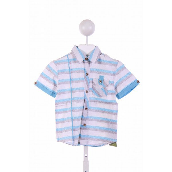 FORE!! AXEL & HUDSON  GRAY  STRIPED  CLOTH SS SHIRT