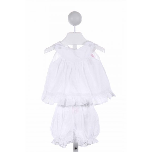FRUMPY RUMPS  WHITE    2-PIECE OUTFIT WITH RUFFLE