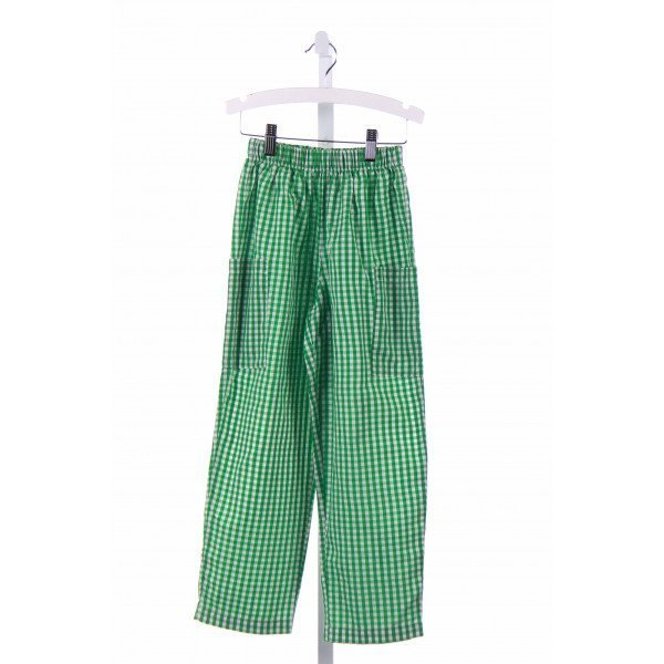 COTTON BLU  GREEN  GINGHAM  PANTS