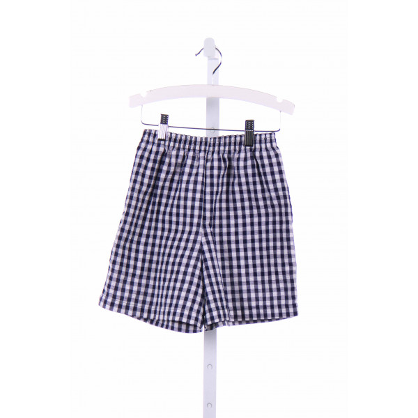 KELLY'S KIDS  NAVY SEERSUCKER GINGHAM  SHORTS