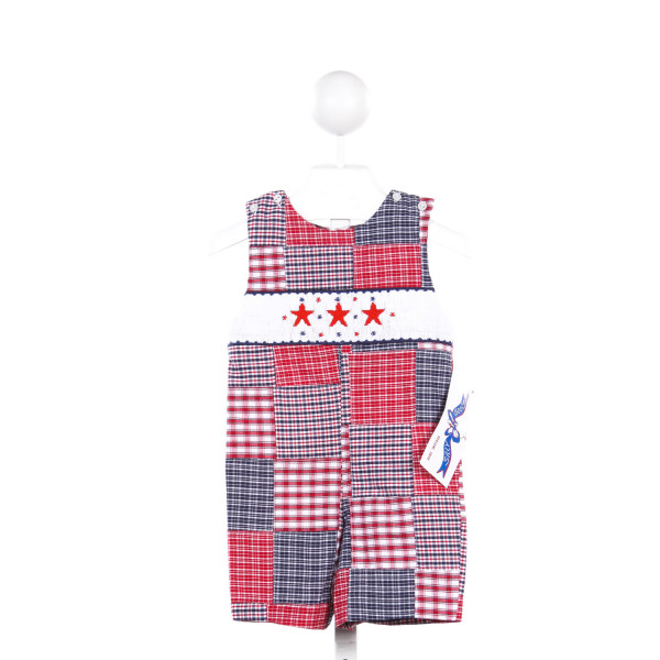 SILLY GOOSE RED AND BLUE SHORTALL