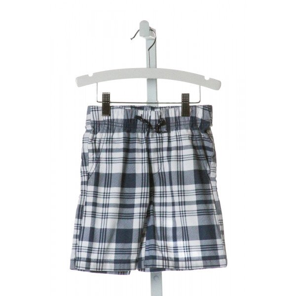 NAUTICA  BLUE  PLAID  SHORTS