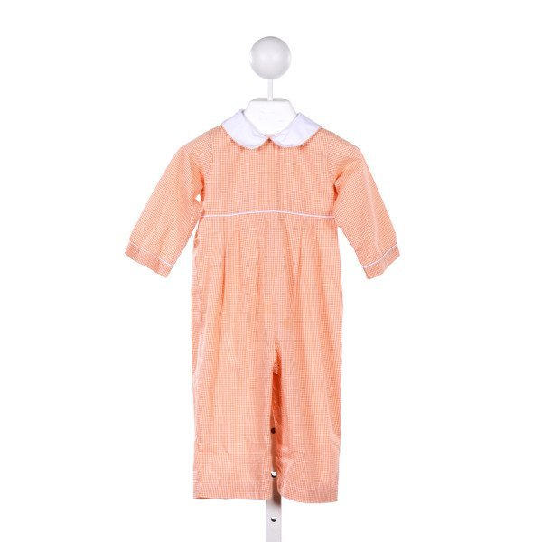 CANDYLAND  ORANGE  GINGHAM  LONGALL/ROMPER