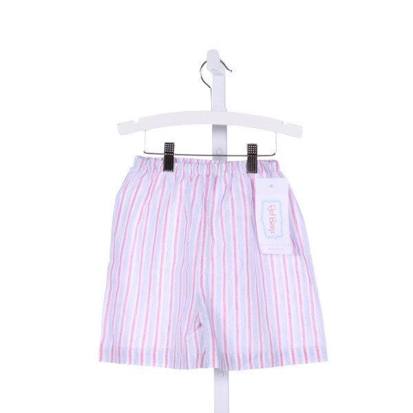 RED BEANS  MULTI-COLOR  STRIPED  SHORTS