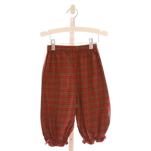 RAGSLAND  MULTI-COLOR  PLAID  PANTS WITH RUFFLE