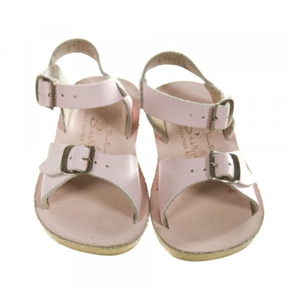 PINK SUN SANS/ SALTWATER SANDALS *SIZE TODDLER 8, VGU - WEAR AND DISCOLORATION