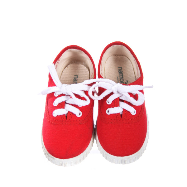 NAMOO RED CANVAS SNEAKERS TODDLER SIZE 9.5 (EU 26)
