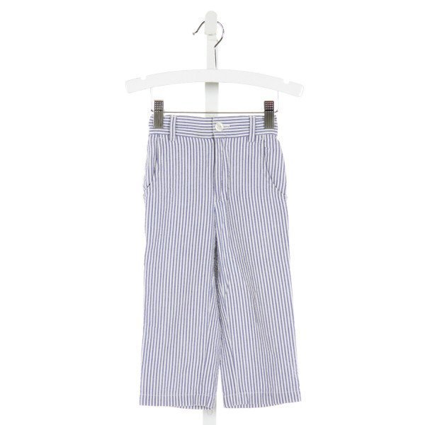 KULE BY NIKKI KULE  BLUE SEERSUCKER STRIPED  PANTS