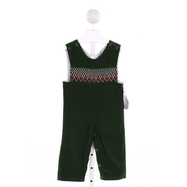 REMEMBER NGUYEN  GREEN CORDUROY  SMOCKED LONGALL/ROMPER
