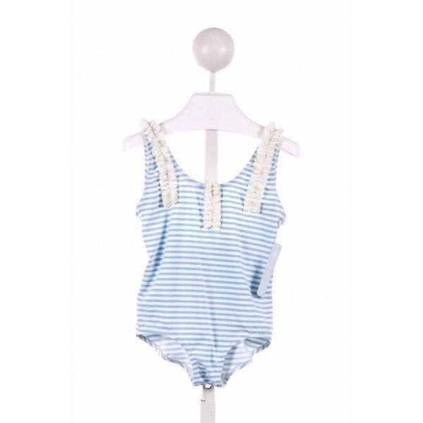 EBERJEY  BLUE  STRIPED  1-PIECE SWIMSUIT
