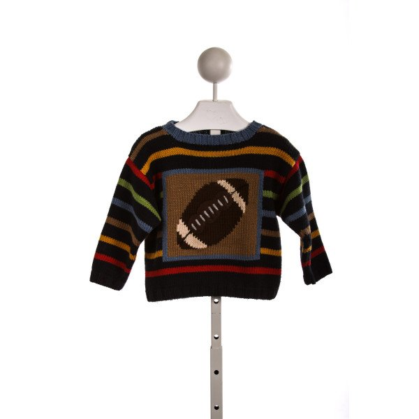 JAKE NAVY AND BROWN FOOTBALL SWEATER
