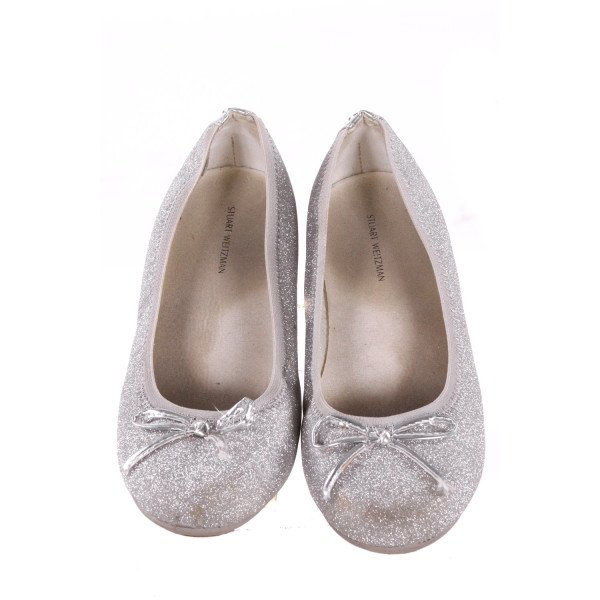 STUART WEITZMAN SILVER SPARKLE SHOES *SIZE 3, VGU - DISCOLORATION AND SCUFFING