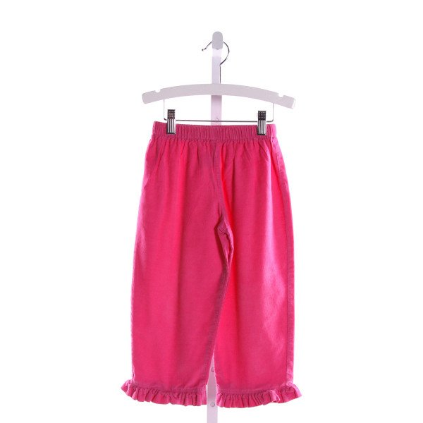 RAGSLAND  HOT PINK CORDUROY   PANTS WITH RUFFLE