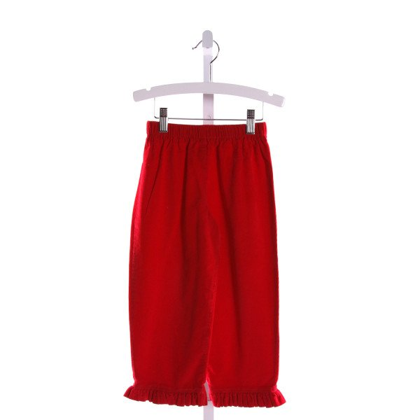 RAGSLAND  RED CORDUROY   PANTS WITH RUFFLE