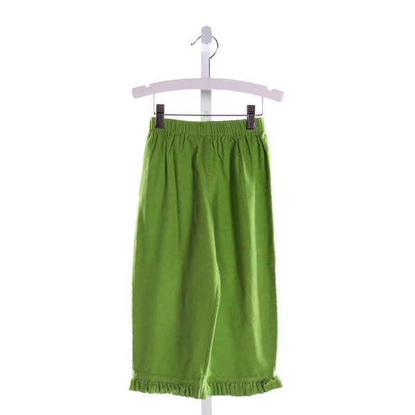 RAGSLAND  GREEN CORDUROY   PANTS WITH RUFFLE