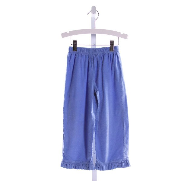 RAGSLAND  BLUE CORDUROY   PANTS WITH RUFFLE