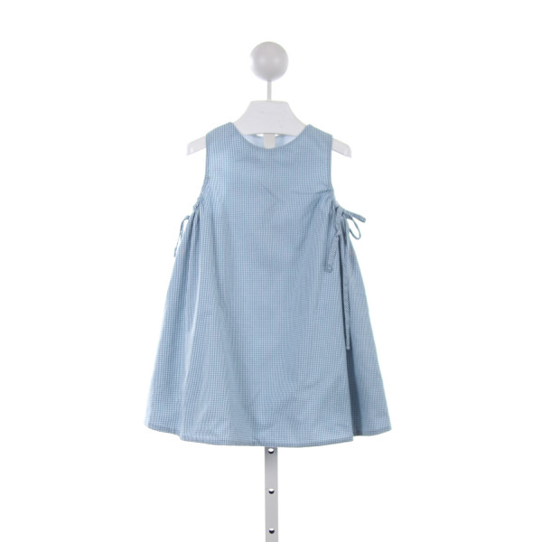 NO TAG TEAL GINGHAM SWING DRESS