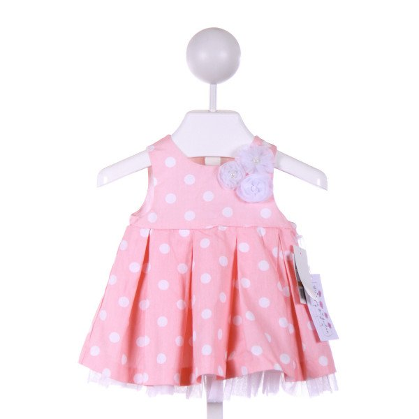 PIPPA & JULIE  PINK  POLKA DOT  PARTY DRESS