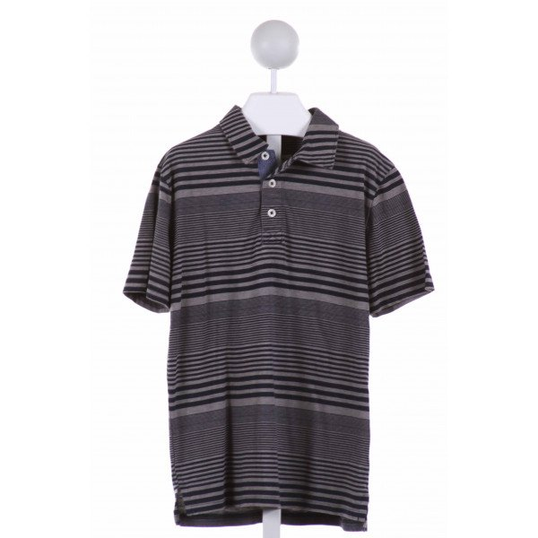 TUCKER & TATE  MULTI-COLOR  STRIPED  KNIT SS SHIRT