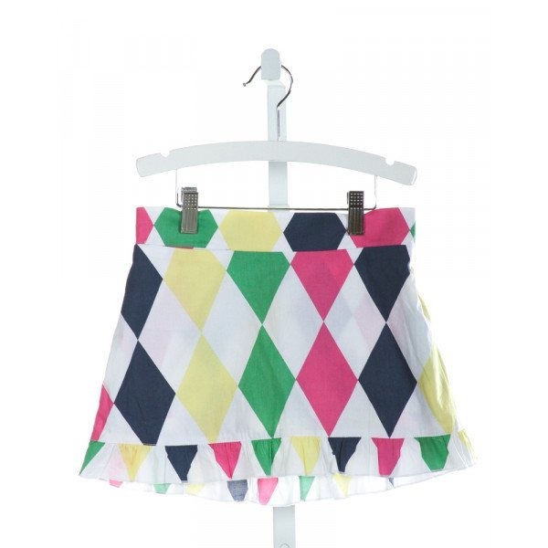 GOLFTINI  WHITE   PRINTED DESIGN SKORT WITH RUFFLE