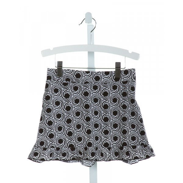 GOLFTINI  BLACK   PRINTED DESIGN SKORT WITH RUFFLE