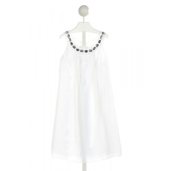 US ANGELS   OFF-WHITE   APPLIQUED DRESS