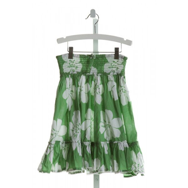 MINI BODEN  LT GREEN  FLORAL  SKIRT WITH RUFFLE