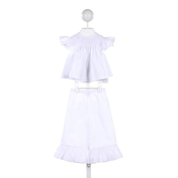ROSALINA 2 PIECE WHITE SMOCKED PANT SET