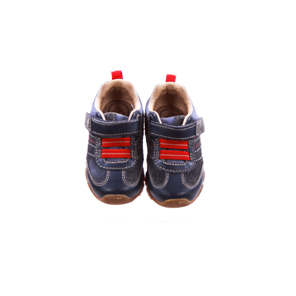 STRIDE RITE NAVY AND RED SNEAKERS TODDLER SIZE 4.5 *EUC