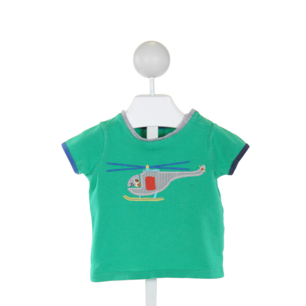 BABY BODEN  GREEN   EMBROIDERED T-SHIRT