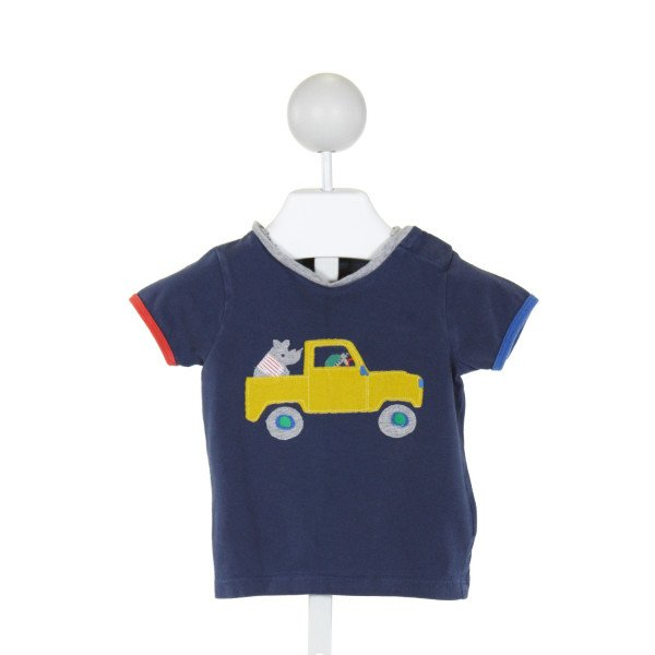 BABY BODEN  NAVY   EMBROIDERED T-SHIRT