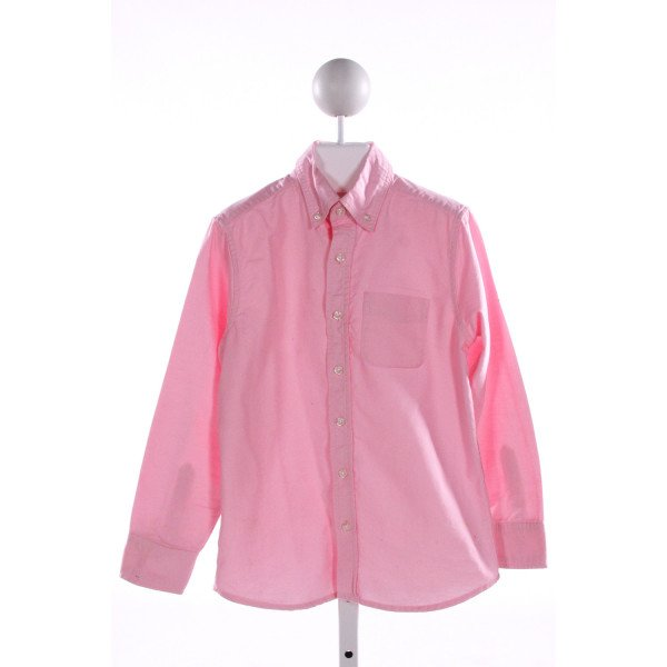 LANDS' END KIDS  LT PINK    CLOTH LS SHIRT