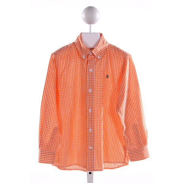 J. BAILEY  ORANGE  GINGHAM  CLOTH LS SHIRT