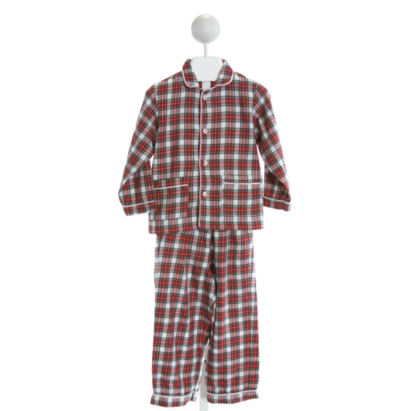 LA COQUETA  RED  PLAID  2-PIECE OUTFIT