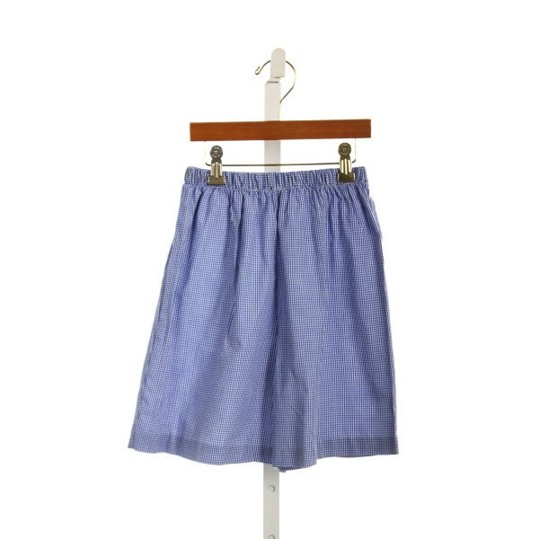 VIVE LA FETE BLUE AND WHITE GINGHAM SHORTS