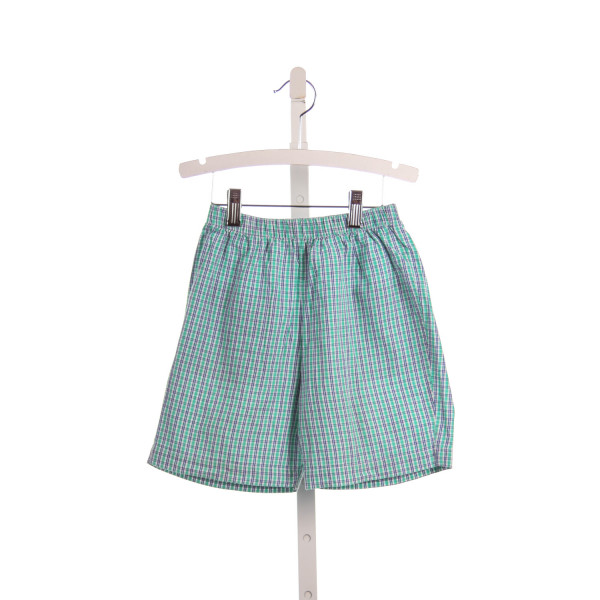 BELLA BLISS GREEN AND BLUE PLAID SHORTS