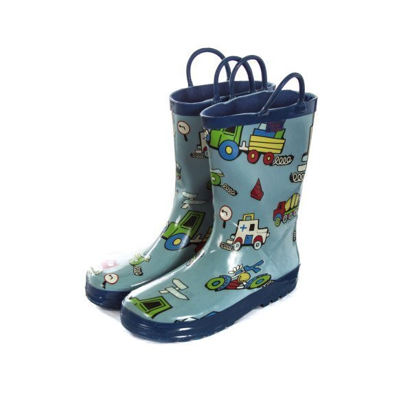 PLUIE PLUIE LIGHT BLUE CARS RAIN BOOTS TODDLER SIZE 13