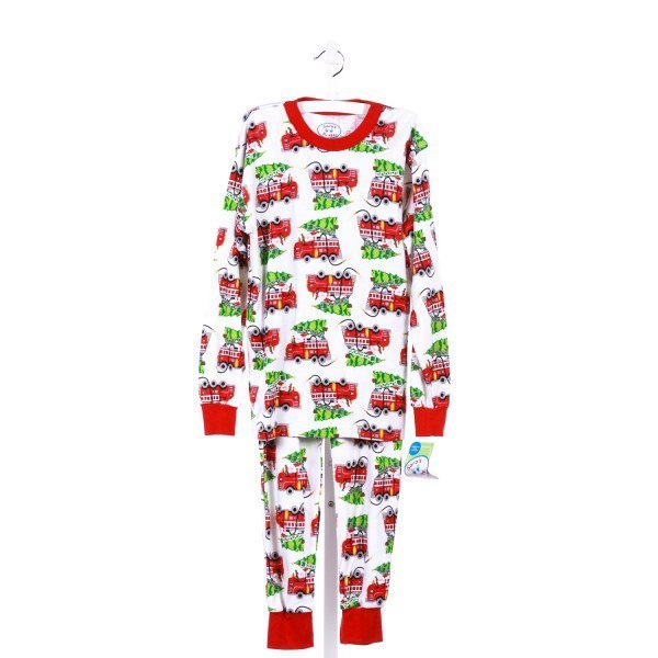 SARA'S PRINTS 2-PIECE LONG SLEEVE LOUNGEWEAR SET SANTA FIRE TRUCK PRINT