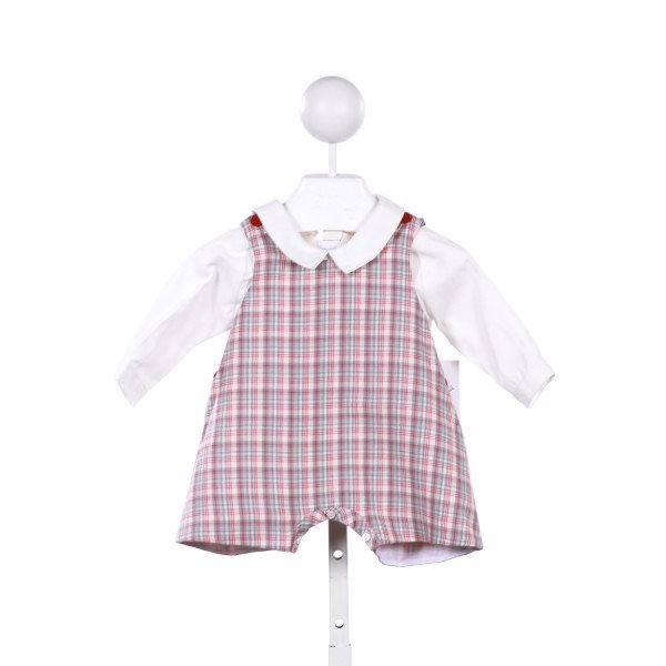 LULI & ME 2-PIECE PLAID SHORTALL