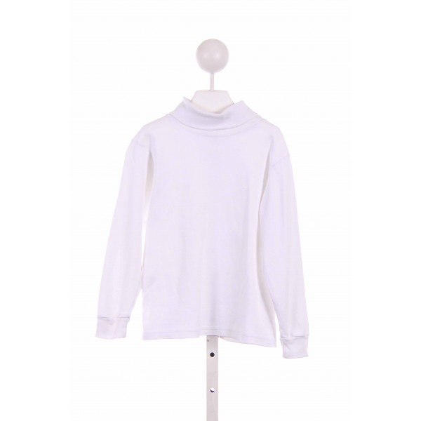 LE TOP  WHITE    KNIT LS SHIRT