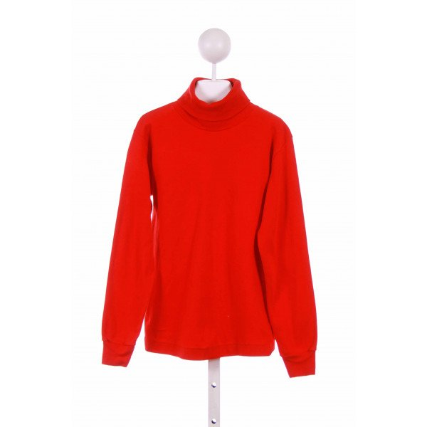LE TOP  RED    KNIT LS SHIRT