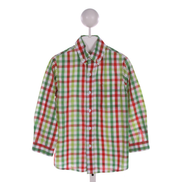 ORIENT EXPRESSED  MULTI-COLOR  GINGHAM  CLOTH LS SHIRT