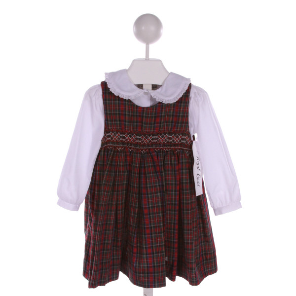 ROYAL CHILD  MULTI-COLOR  PLAID  DRESS WITH RUFFLE