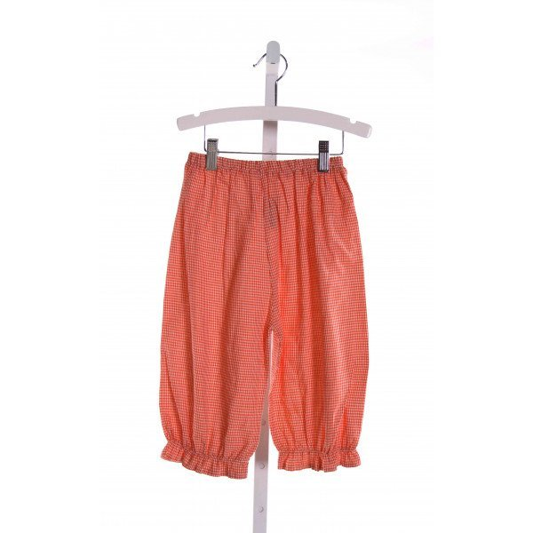 HEAVENLY KIDS  ORANGE  GINGHAM  PANTS WITH RUFFLE