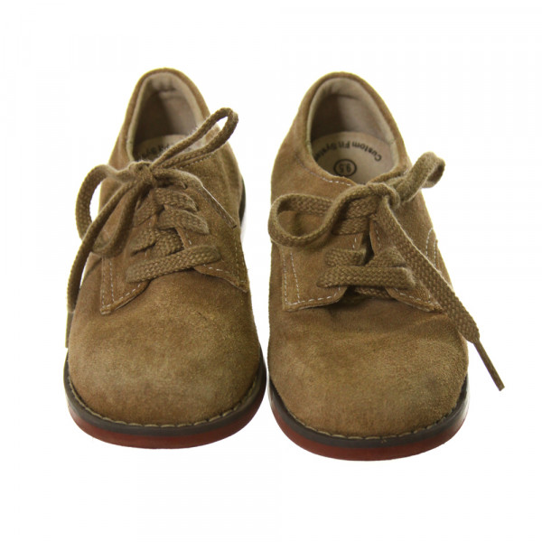 FOOTMATES BROWN LEATHER SHOES *SIZE TODDLER 9.5, GUC- SCUFFING AND WEAR