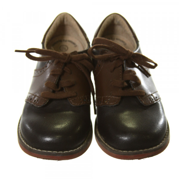 FOOTMATES BLACK AND BROWN LEATHER SHOES *SIZE TODDLER 10, EUC
