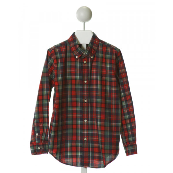 RALPH LAUREN  RED  PLAID  CLOTH LS SHIRT