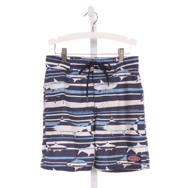 VINEYARD VINES  BLUE   PRINTED DESIGN SWIM TRUNKS