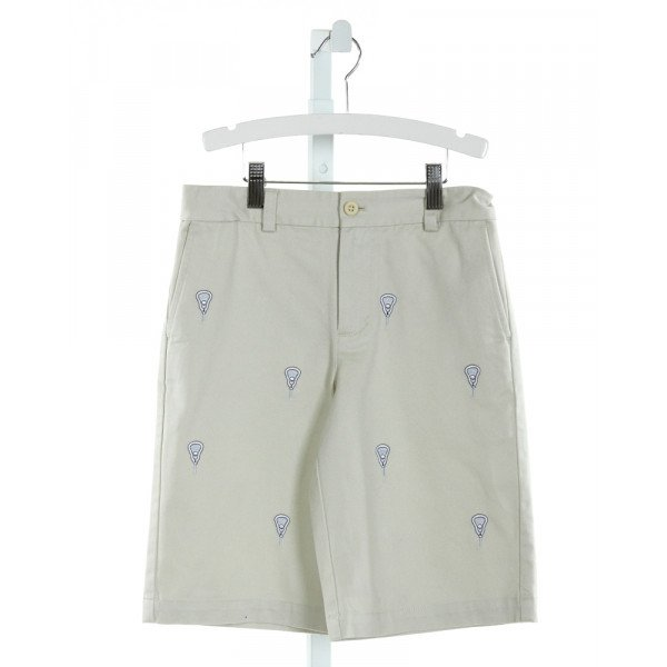 VINEYARD VINES  KHAKI   EMBROIDERED SHORTS