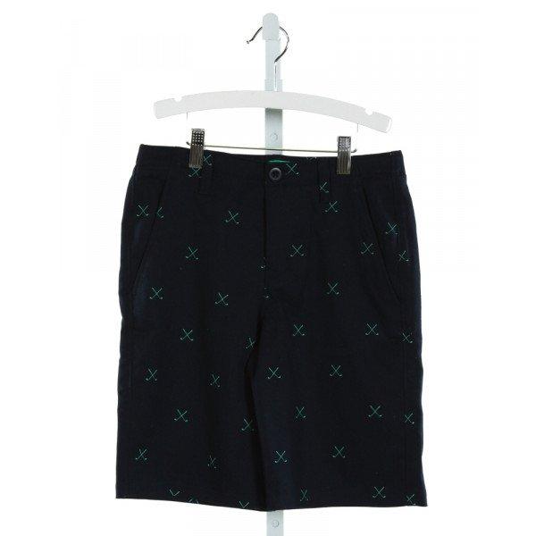 UNDER ARMOUR  NAVY   PRINTED DESIGN SHORTS